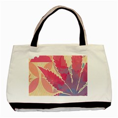 Marijuana Heart Cannabis Rainbow Pink Cloud Basic Tote Bag by Mariart