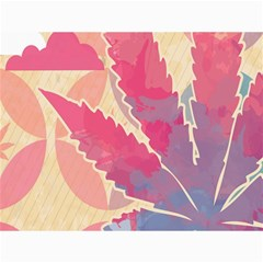 Marijuana Heart Cannabis Rainbow Pink Cloud Canvas 36  X 48   by Mariart