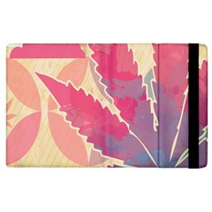 Marijuana Heart Cannabis Rainbow Pink Cloud Apple Ipad 2 Flip Case by Mariart