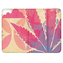 Marijuana Heart Cannabis Rainbow Pink Cloud Samsung Galaxy Tab 7  P1000 Flip Case by Mariart