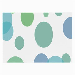 Polka Dots Blue Green White Large Glasses Cloth (2 Side)