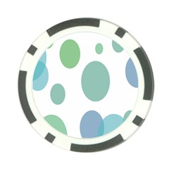 Polka Dots Blue Green White Poker Chip Card Guard (10 Pack) by Mariart