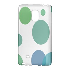 Polka Dots Blue Green White Galaxy Note Edge by Mariart