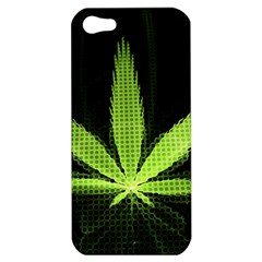 Marijuana Weed Drugs Neon Green Black Light Apple Iphone 5 Hardshell Case by Mariart