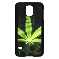 Marijuana Weed Drugs Neon Green Black Light Samsung Galaxy S5 Case (black) by Mariart