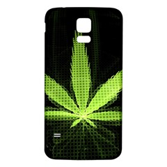 Marijuana Weed Drugs Neon Green Black Light Samsung Galaxy S5 Back Case (white) by Mariart