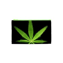 Marijuana Weed Drugs Neon Green Black Light Cosmetic Bag (xs) by Mariart