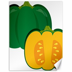 Pumpkin Peppers Green Yellow Canvas 18  X 24   by Mariart