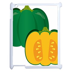 Pumpkin Peppers Green Yellow Apple Ipad 2 Case (white) by Mariart