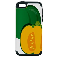 Pumpkin Peppers Green Yellow Apple Iphone 5 Hardshell Case (pc+silicone) by Mariart