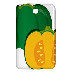 Pumpkin Peppers Green Yellow Samsung Galaxy Tab 3 (7 ) P3200 Hardshell Case  by Mariart
