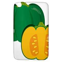 Pumpkin Peppers Green Yellow Samsung Galaxy Tab 3 (8 ) T3100 Hardshell Case  by Mariart