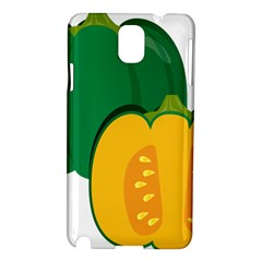 Pumpkin Peppers Green Yellow Samsung Galaxy Note 3 N9005 Hardshell Case by Mariart