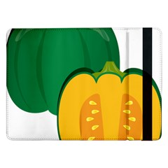 Pumpkin Peppers Green Yellow Samsung Galaxy Tab Pro 12 2  Flip Case by Mariart