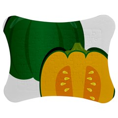 Pumpkin Peppers Green Yellow Jigsaw Puzzle Photo Stand (bow) by Mariart