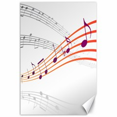 Musical Net Purpel Orange Note Canvas 20  X 30   by Mariart