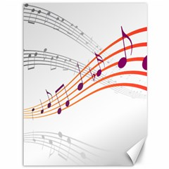 Musical Net Purpel Orange Note Canvas 36  X 48   by Mariart