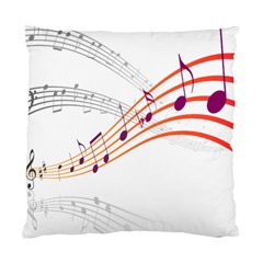 Musical Net Purpel Orange Note Standard Cushion Case (one Side)