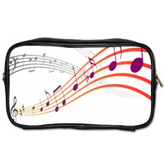 Musical Net Purpel Orange Note Toiletries Bags by Mariart