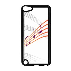 Musical Net Purpel Orange Note Apple Ipod Touch 5 Case (black) by Mariart