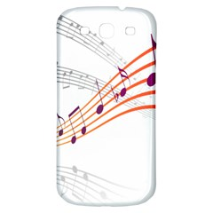Musical Net Purpel Orange Note Samsung Galaxy S3 S Iii Classic Hardshell Back Case by Mariart