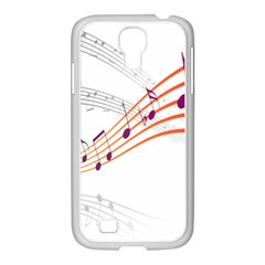 Musical Net Purpel Orange Note Samsung Galaxy S4 I9500/ I9505 Case (white) by Mariart