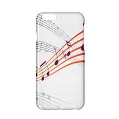 Musical Net Purpel Orange Note Apple Iphone 6/6s Hardshell Case by Mariart