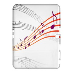 Musical Net Purpel Orange Note Samsung Galaxy Tab 4 (10 1 ) Hardshell Case  by Mariart