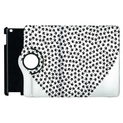 Marijuana Heart Cannabis Black Love Apple Ipad 3/4 Flip 360 Case by Mariart