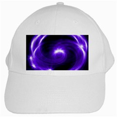 Purple Black Star Neon Light Space Galaxy White Cap by Mariart