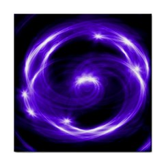 Purple Black Star Neon Light Space Galaxy Tile Coasters