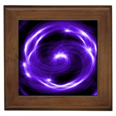 Purple Black Star Neon Light Space Galaxy Framed Tiles by Mariart