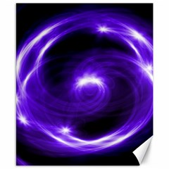 Purple Black Star Neon Light Space Galaxy Canvas 8  X 10  by Mariart