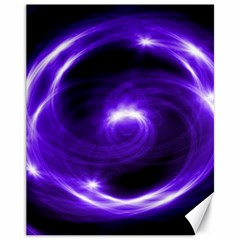 Purple Black Star Neon Light Space Galaxy Canvas 11  X 14   by Mariart
