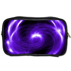 Purple Black Star Neon Light Space Galaxy Toiletries Bags by Mariart