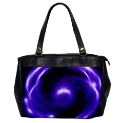 Purple Black Star Neon Light Space Galaxy Office Handbags by Mariart