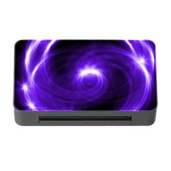 Purple Black Star Neon Light Space Galaxy Memory Card Reader With Cf by Mariart