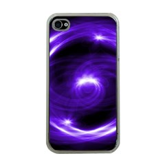 Purple Black Star Neon Light Space Galaxy Apple Iphone 4 Case (clear) by Mariart