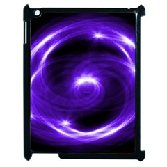 Purple Black Star Neon Light Space Galaxy Apple Ipad 2 Case (black) by Mariart