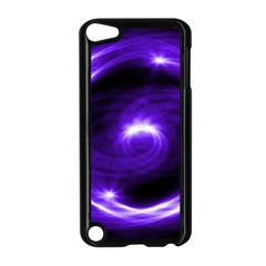 Purple Black Star Neon Light Space Galaxy Apple Ipod Touch 5 Case (black) by Mariart