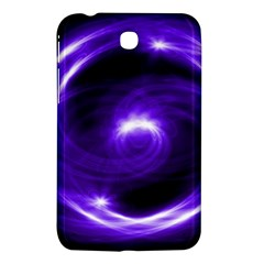 Purple Black Star Neon Light Space Galaxy Samsung Galaxy Tab 3 (7 ) P3200 Hardshell Case  by Mariart