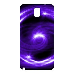 Purple Black Star Neon Light Space Galaxy Samsung Galaxy Note 3 N9005 Hardshell Back Case by Mariart