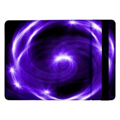 Purple Black Star Neon Light Space Galaxy Samsung Galaxy Tab Pro 12 2  Flip Case by Mariart