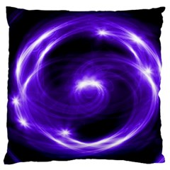 Purple Black Star Neon Light Space Galaxy Standard Flano Cushion Case (one Side) by Mariart