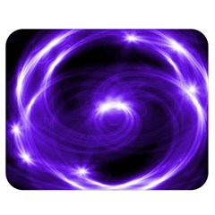 Purple Black Star Neon Light Space Galaxy Double Sided Flano Blanket (medium)  by Mariart