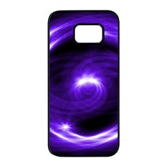 Purple Black Star Neon Light Space Galaxy Samsung Galaxy S7 Edge Black Seamless Case by Mariart
