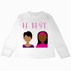 Black Girls Be The Best You Kids Long Sleeve T Shirt by kenique