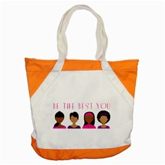 Black Girls Be The Best You Accent Tote Bag by kenique