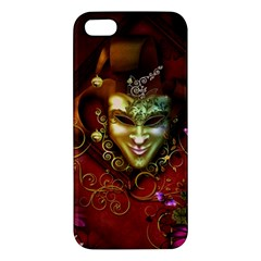 Wonderful Venetian Mask With Floral Elements Apple Iphone 5 Premium Hardshell Case by FantasyWorld7