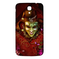 Wonderful Venetian Mask With Floral Elements Samsung Galaxy Mega I9200 Hardshell Back Case by FantasyWorld7
